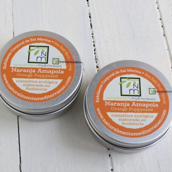 exfoliante naranja semillas amapola ecologico