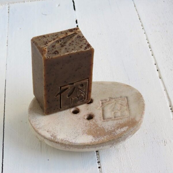 Organic Coffee Cinnamon Soap brown soap dish
