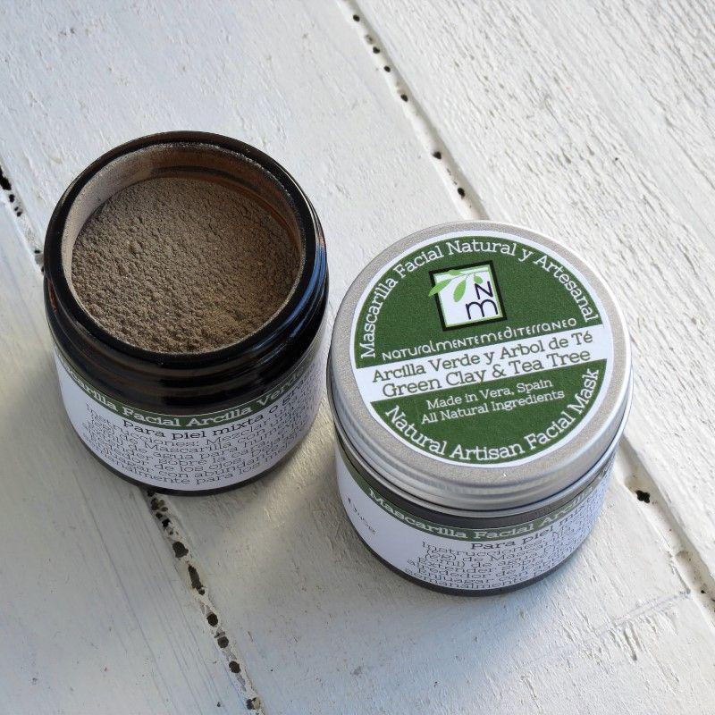 facial mask green clay tea tree for combination and oily skin