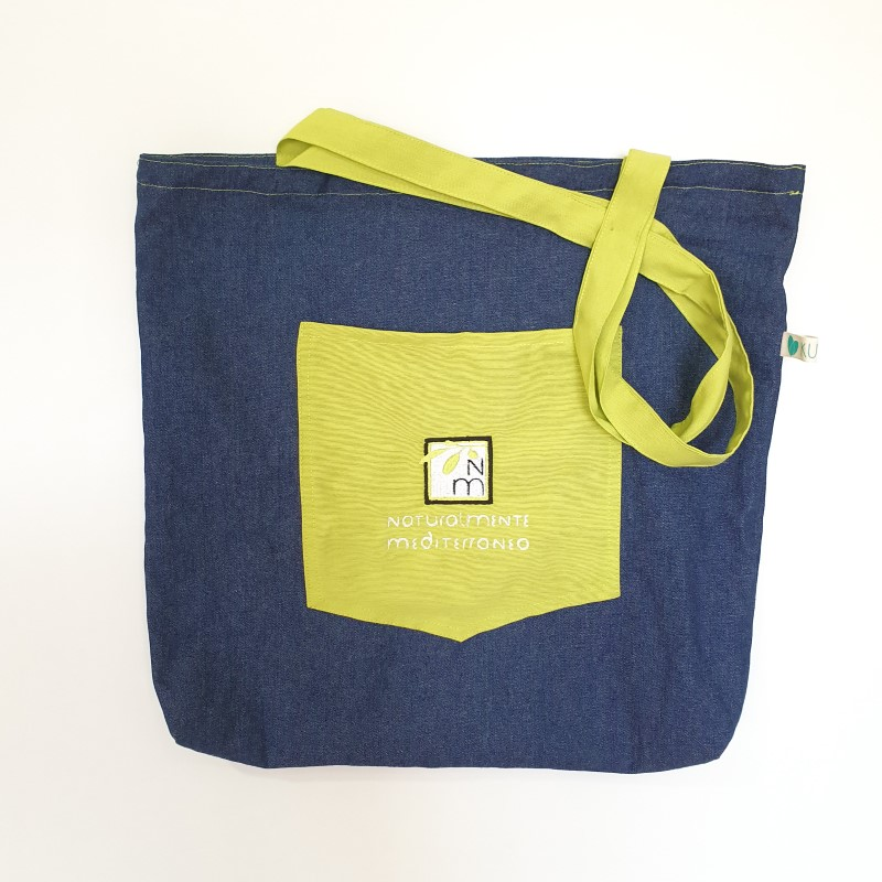 Handmade jean bag naturalmente mediterraneo