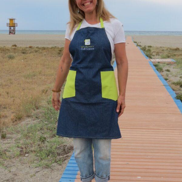 Handmade jean apron naturalmente mediterraneo