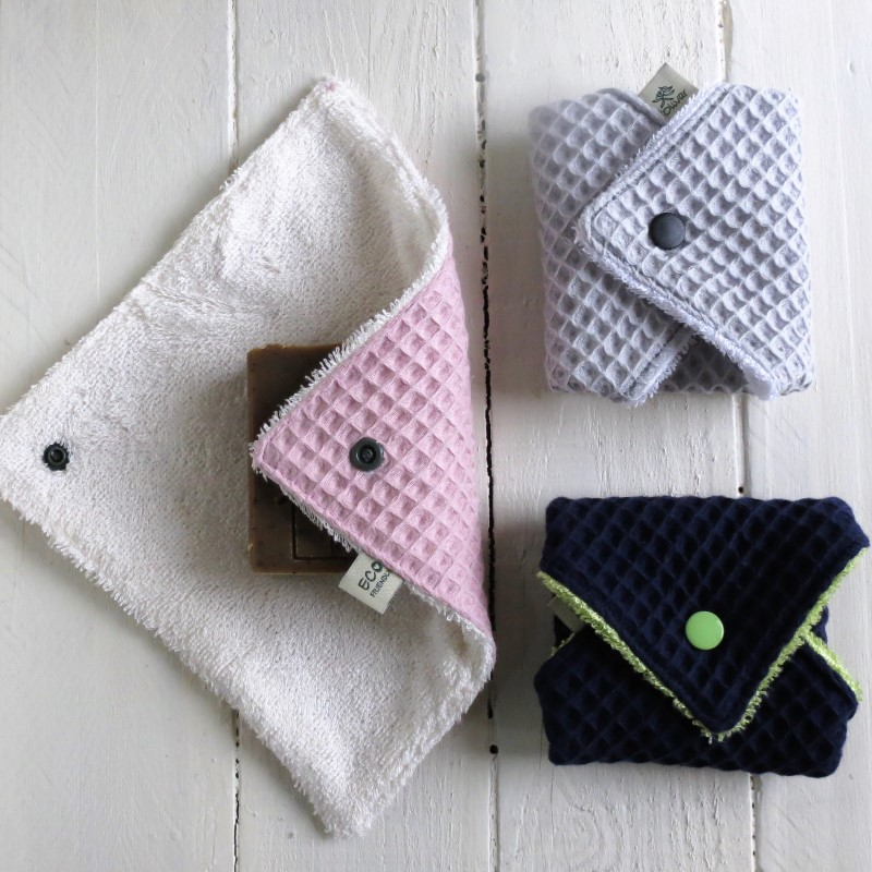 Portador de jabón de tela