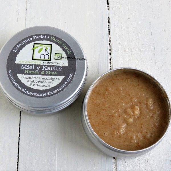 exfoliante facial miel karite ecologico