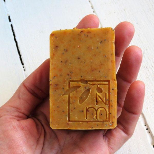 orange poppyseed soap